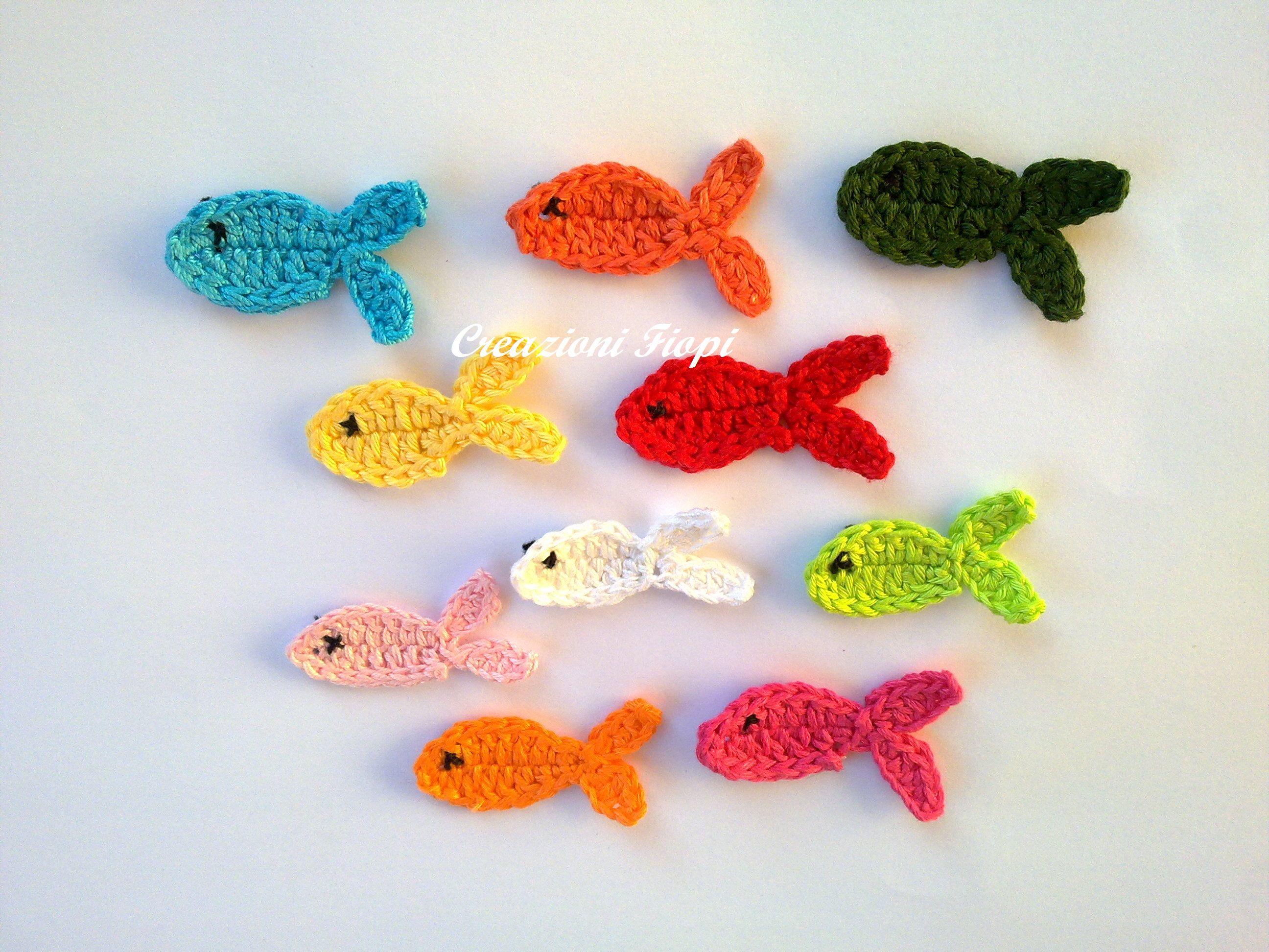 pesci per applicazioni a uncinetto