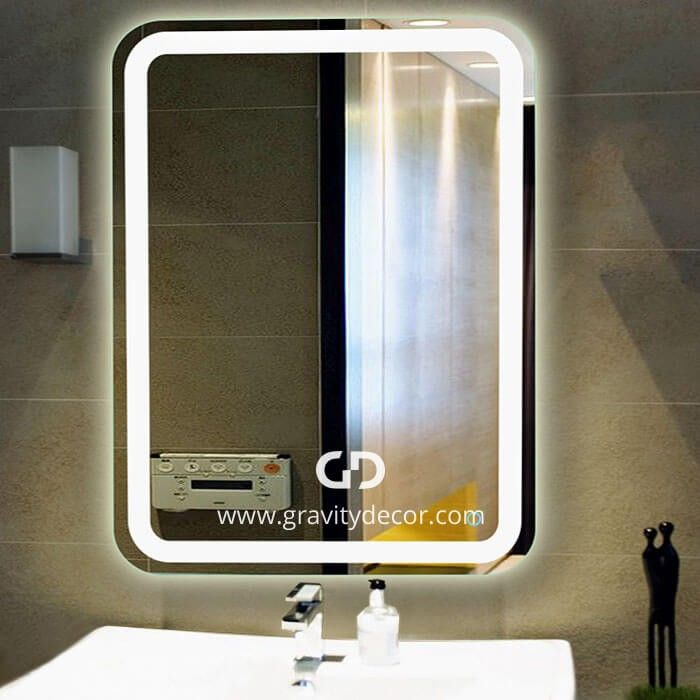 Wall Mounted Lighted Vanity Mirror wall mounted high quality led lighted vanity mirror 31 x 23 in