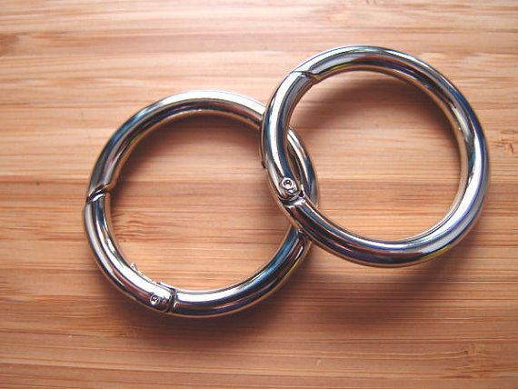 Snap O-Rings - Gate Hinged Rings 1.5 Inch / 38mm - Silver ...