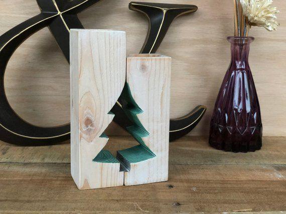 Weihnachtsbaum Adventskalender Kerze Halter rustikale Kerzenhalter Bauernhaus antike Mantel Dekor
