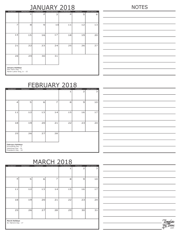 photo relating to 3 Month Printable Calender called 2018 - 3 Thirty day period Calendar In just the Junk Drawer 3 thirty day period