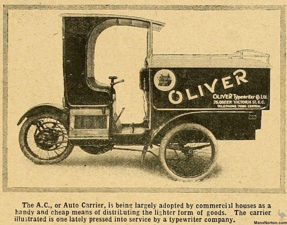 1912 Ac First Car Emu Touring Commercial Automobile Porsche