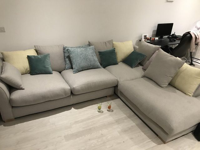 Large Grey Corner Sofa Nearly New For Sale In Highams Park Waltham Forest Preloved Grey Corner Sofa Large Grey Corner Sofa Corner Sofa