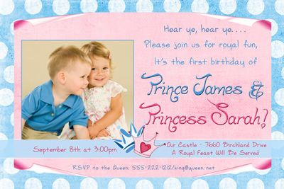 Boy And Girl Combined Birthday Party Ideas Royal Photo Birthday