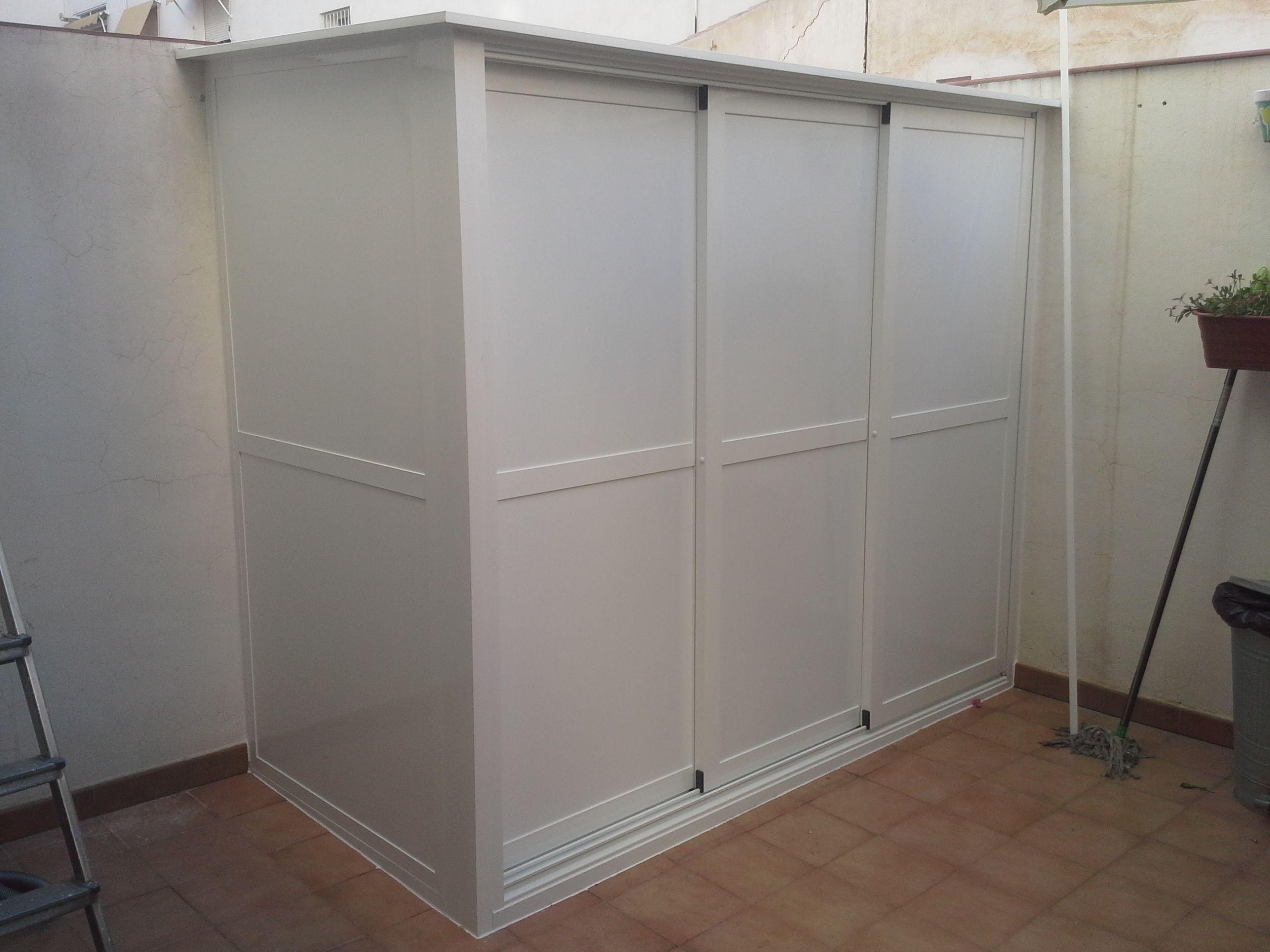 Closet Exterior De Servicio Y Bodega Diseño De Lavadero