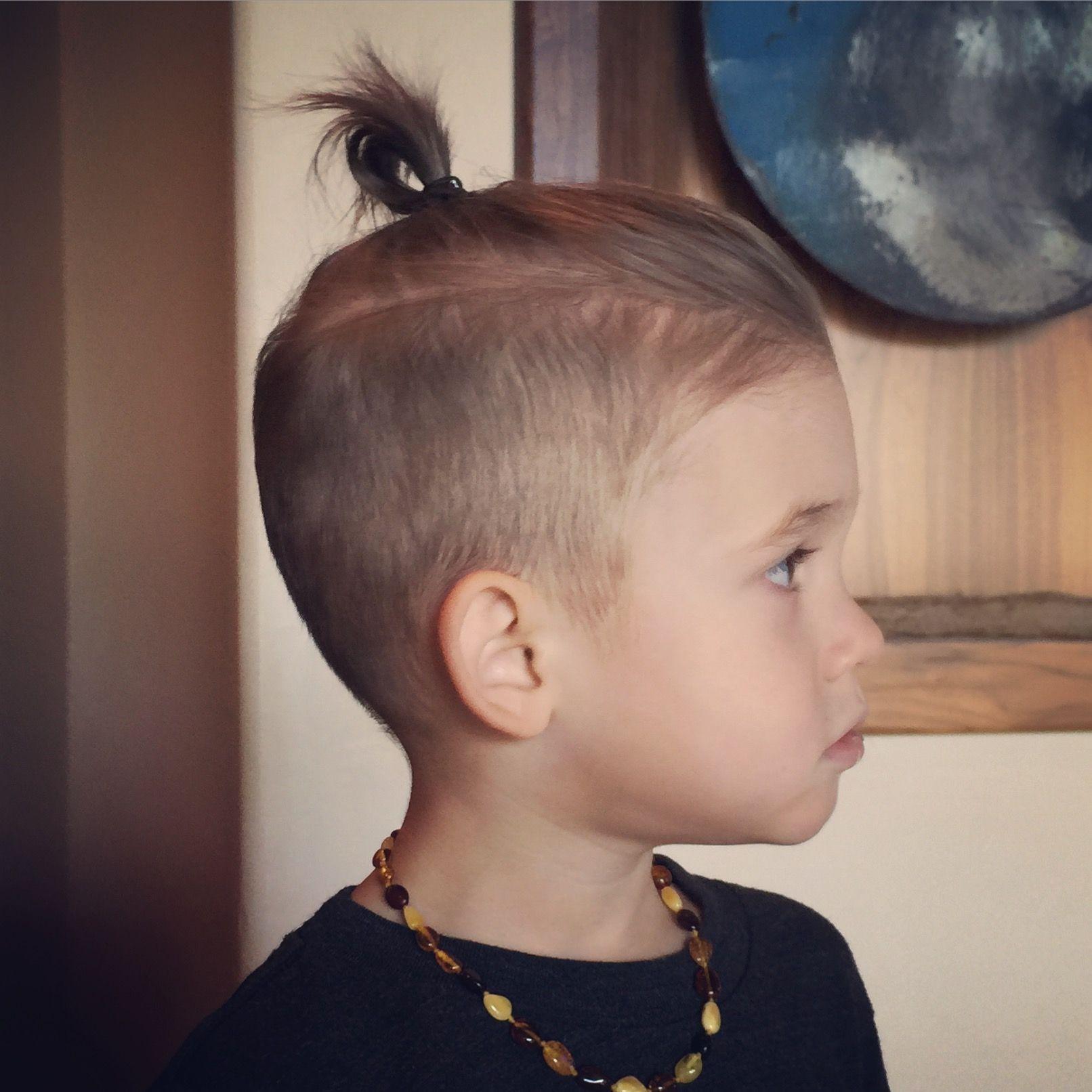 He wants a little man bun so
