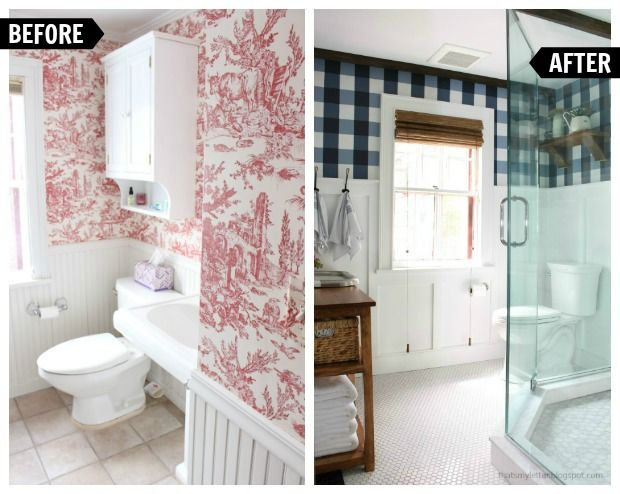 Pics On farmhouse style master bathroom renovation before and after
