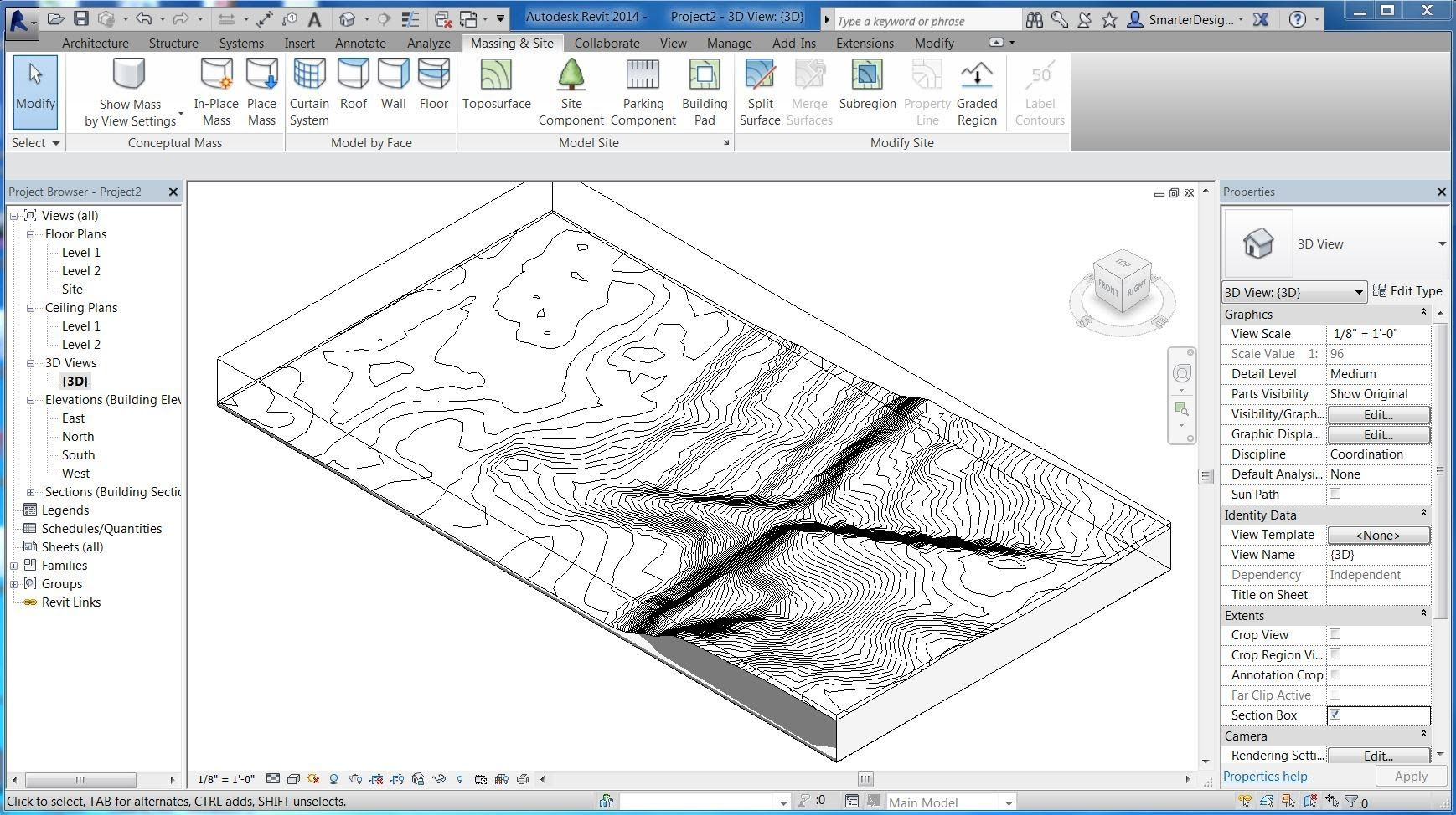 Revit Tutorials Import 3d Site Topo Surface From Sketchup Revit