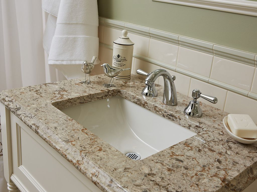 Cambria Quartz - Bathroom Sink #Windermere #CambrianCollection