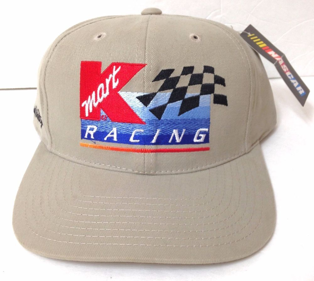 0ef58373d unworn vtg KMART RACING / ROUTE 66 DARRELL WALTRIP NASCAR HAT khaki ...