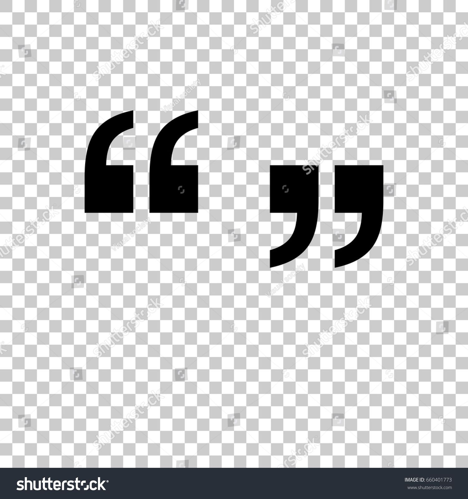 Quotation Marks Symbol Isolated On Transparent Background