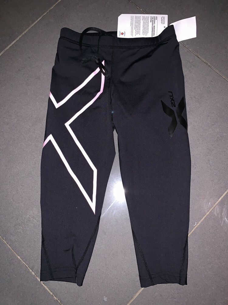 bd8294306e9e65 2XU Compression Tights Running Gym Yoga Workout 3/4 Cropped BNWT Size XS  #fashion #clothing #shoes #accessories #womensclothing #activewear (ebay  link)