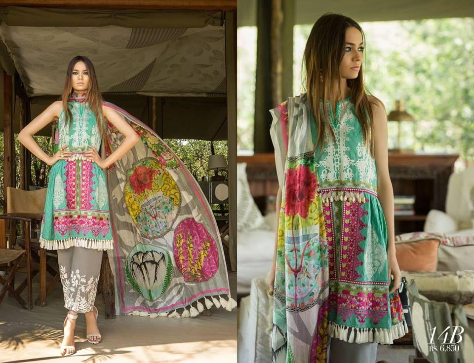 Sana Safinaz Lawn 2018 Summer Collection Full catalog http://www ...