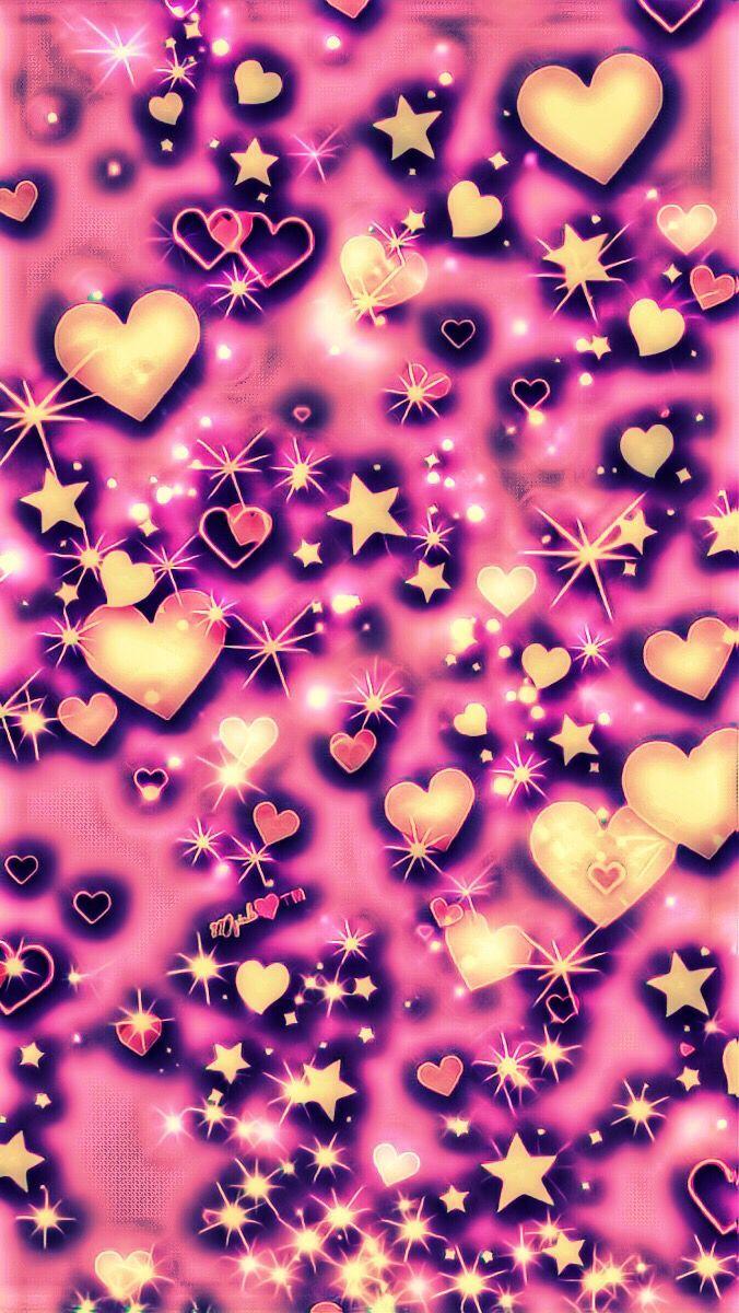 Pink Hearts Galaxy Wallpaper..💖💋💖 #iphonewallpapers ...