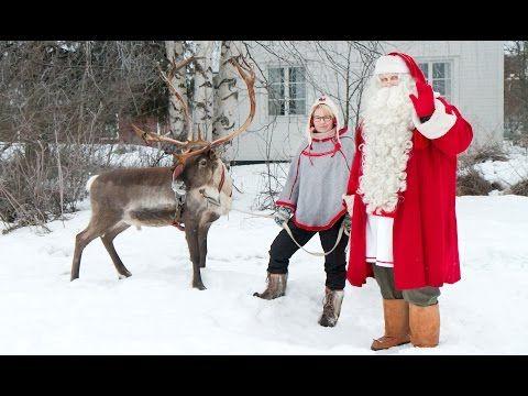 Joulupukin porokilpailu Pellossa Länsi-Lapissa