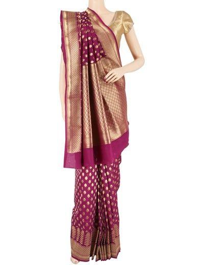 G3 exclusive purple wedding wear designer art silk saree. Product Code: G3-WSA4898 Price: ₹ 3,840.00