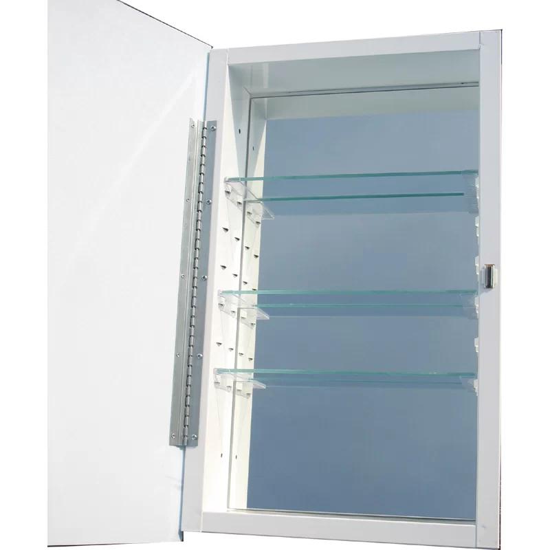 Keenan Recessed Frameless Medicine Cabinet With Images Recessed Medicine Cabinet Medicine Cabinet Shelves Mirror Interior