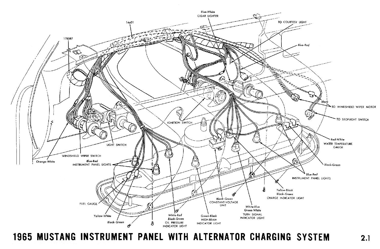 1965 Mustang Wiper Wire Diagram Wiring Schematic
