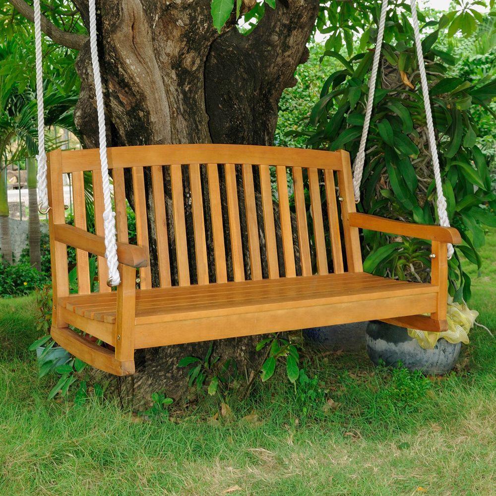 International caravan royal tahiti balau seater porch swing by