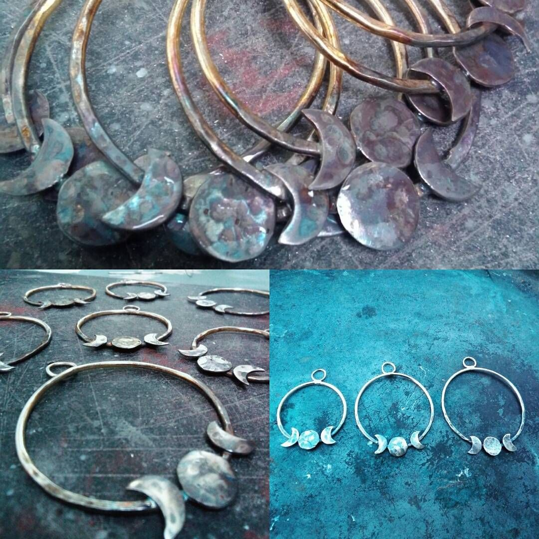 Triple Moons Oxidised and available in three sizes. Find them at https://www.etsy.com/uk/shop/BohoBeaux