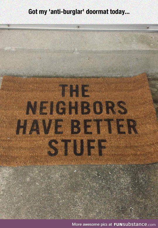 Anti-burglar doormat
