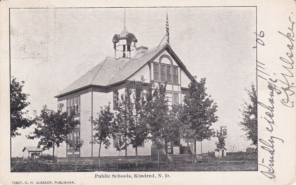 Public Schools Kindred North Dakota Pu 1906 North Dakota Public School Public