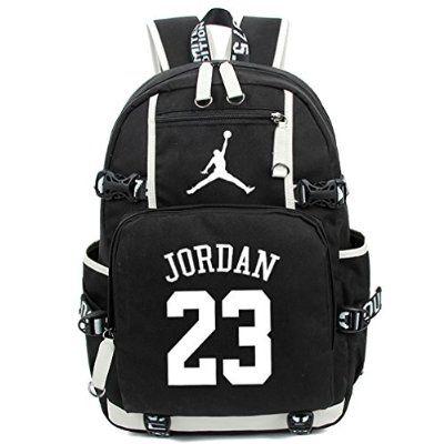 0b9addc236 Kayisamo Michael Jordan Cosplay Chicago Bulls Basketball Fans Luminous  Backpack School Bag