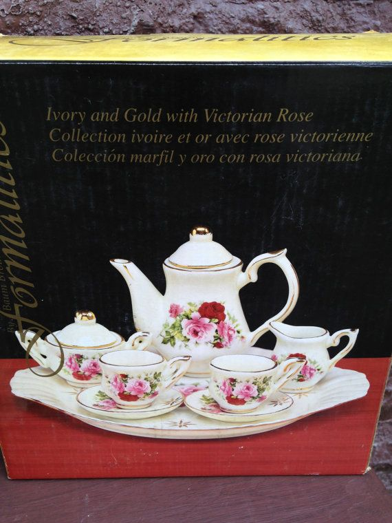 Mini Tea Set Victorian Rose Formalities Baum Brothers Imports, NY 10 ...