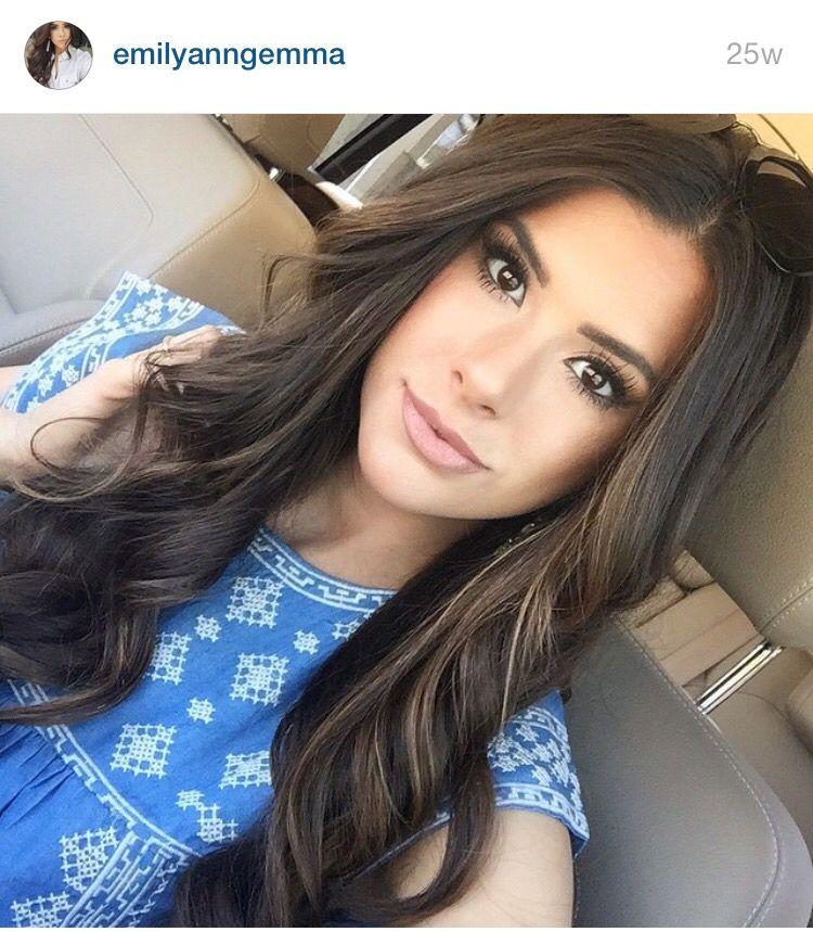 Dark Brunette With Thin Blonde Highlights Hair Pinterest Hair
