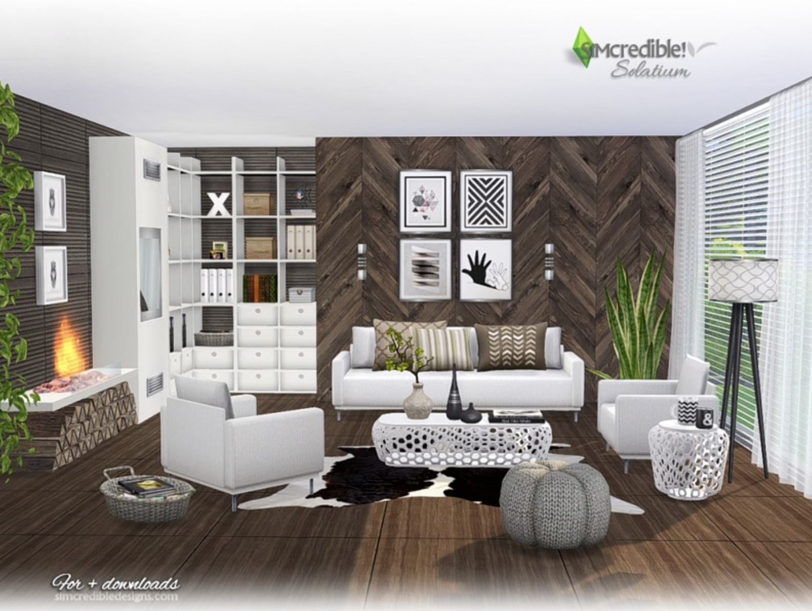 Pin by CHIC on CC for Deirdre | Living room sims 4, Sims 4 ...