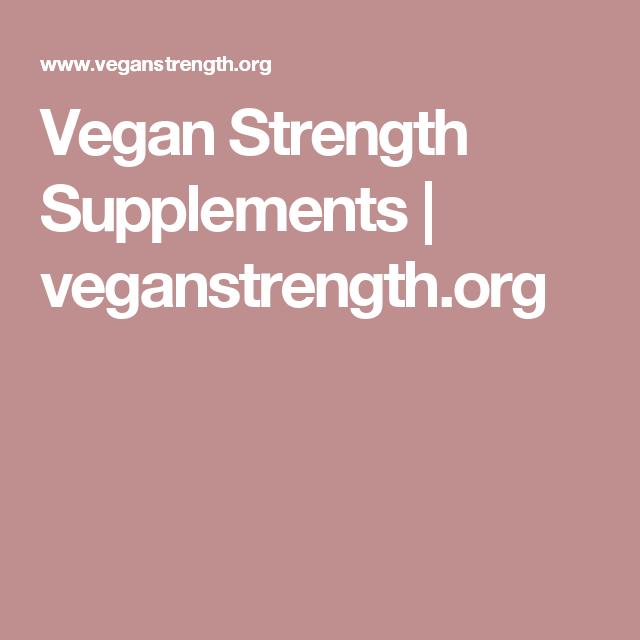Vegan Strength Supplements | veganstrength.org