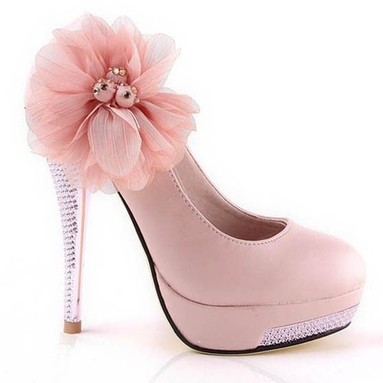 High heel flower crystral closed toes pink platform prom shoes high heel flower crystral closed toes pink platform prom shoes flowerweddingshoes mightylinksfo