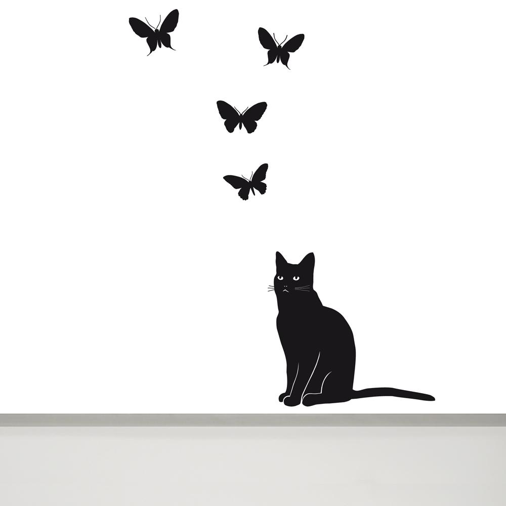 черный кот картинки на стену может стать