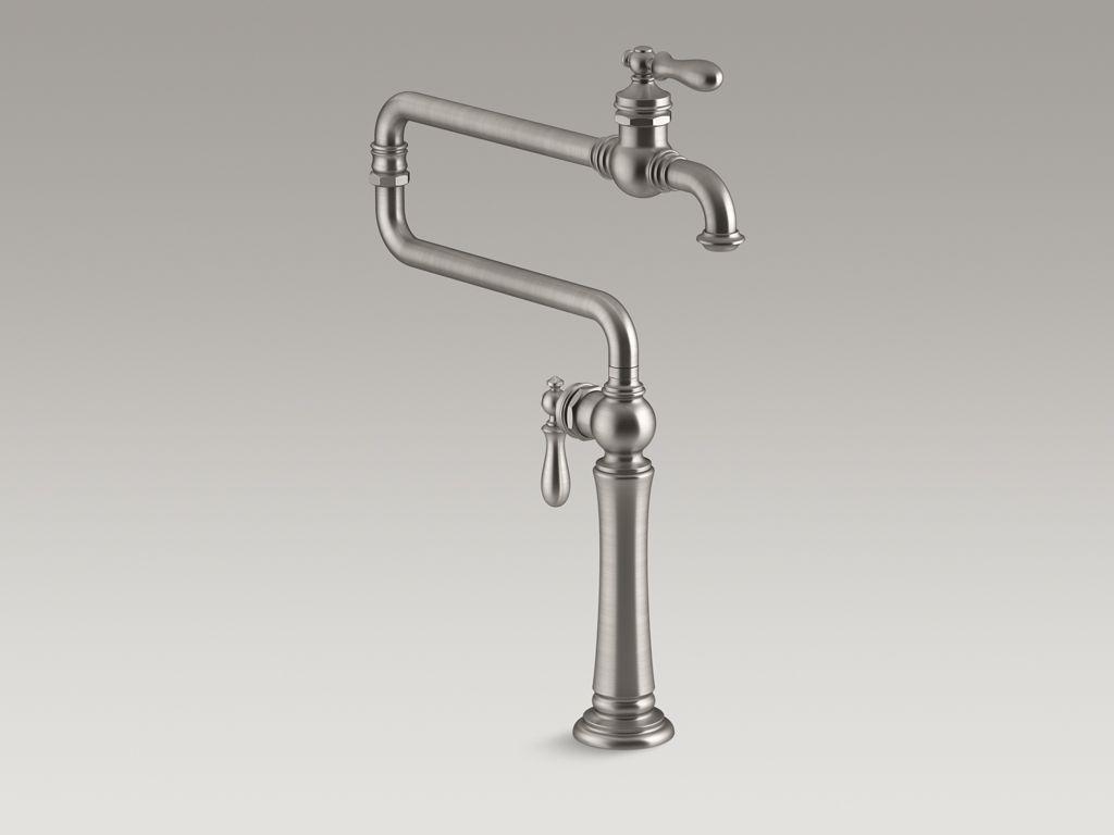 Artifacts Single Hole Deck Mount Pot Filler Kitchen Sink Faucet
