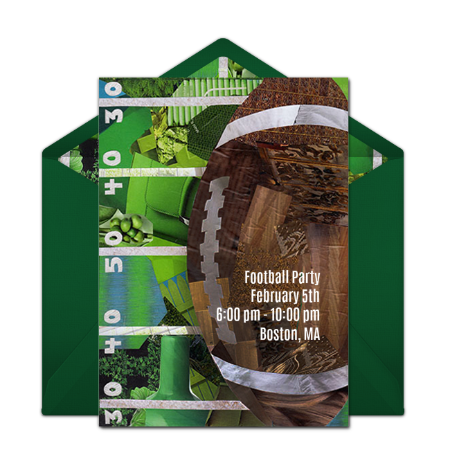 Free Football Collage Invitations Super bowl party Free party