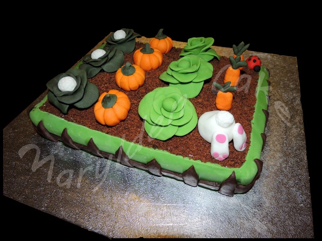 Marylden cake cake design g teau th me jardin potager for Decoration jardin lapin