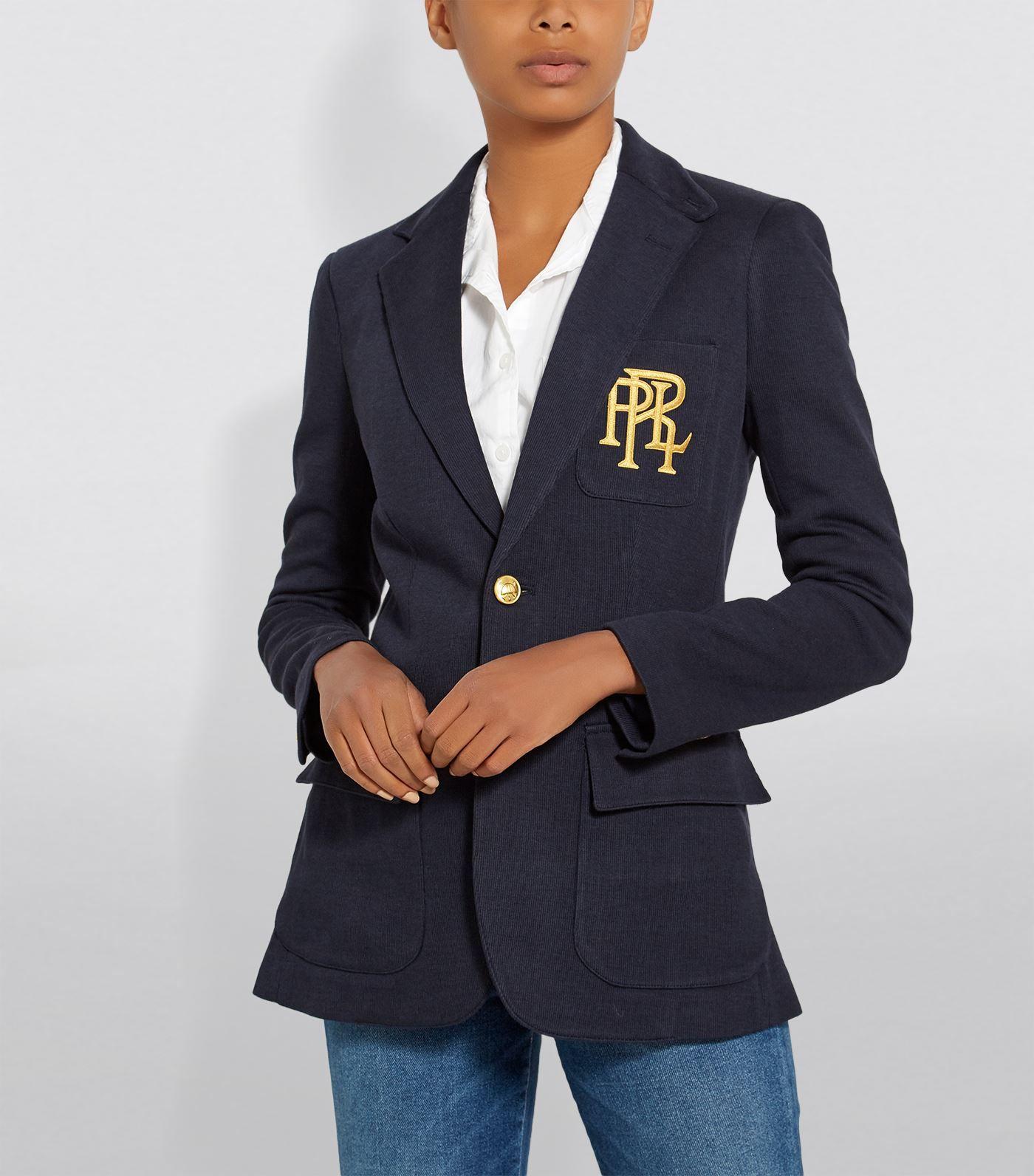 Polo Ralph Lauren Knitted Cotton Blazer Ad Ad Lauren Ralph Polo Blazer Cotton Cotton Blazer Blazer Polo Ralph Lauren