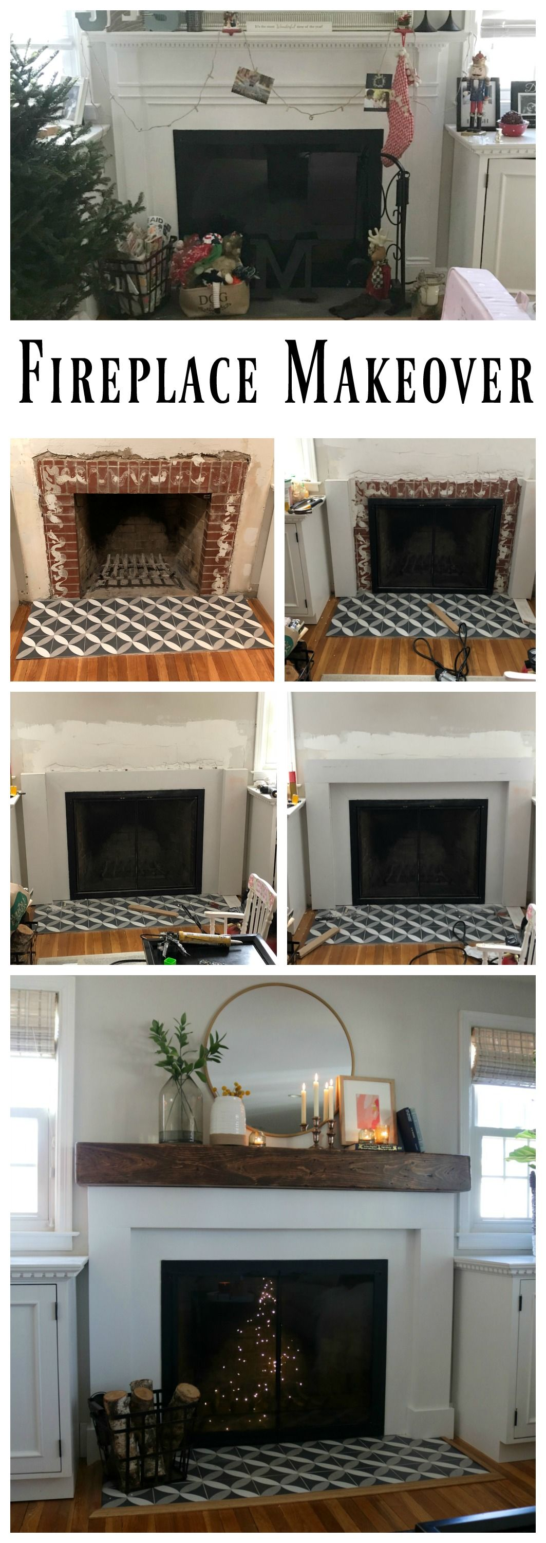 fireplace makeover and styled with decor from target target decor