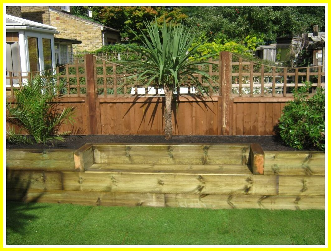 22 reference of garden sleeper bench ideas in 22  Sleepers in