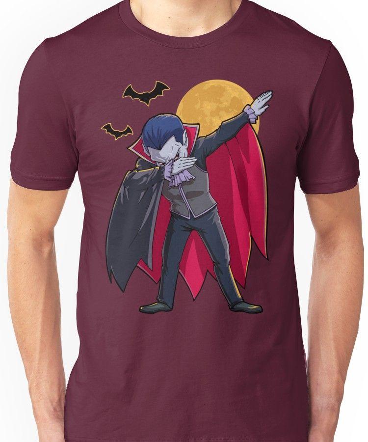 14007684 Dracula Vampire Dabbing Halloween Count Dabula Dab T-Shirt Unisex T-Shirt