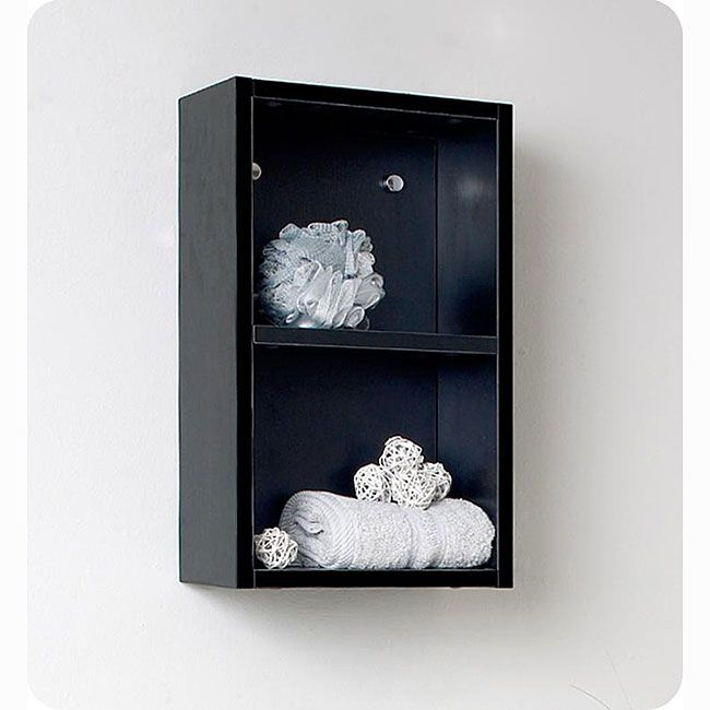 The Fresca linen cabinet features two large open storage areas. This side cabinet has a beautiful black finish, making it a wonderful complement to any bathroom.