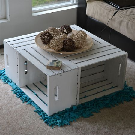 For This Easy Crate Coffee Table You Can Use Reclaimed Crates Make Your Own Crates Using