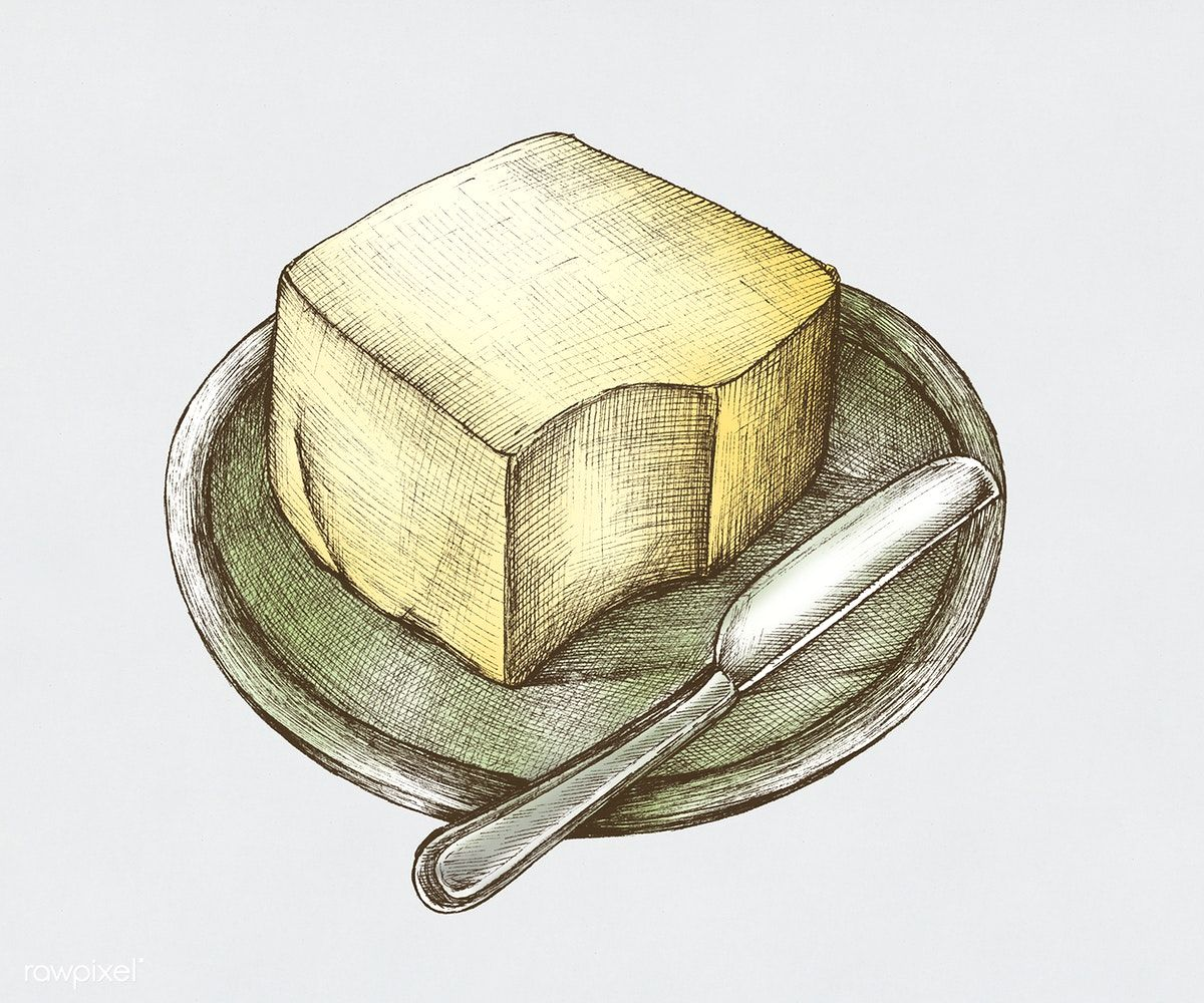 Download premium illustration of Hand-drawn butter ...