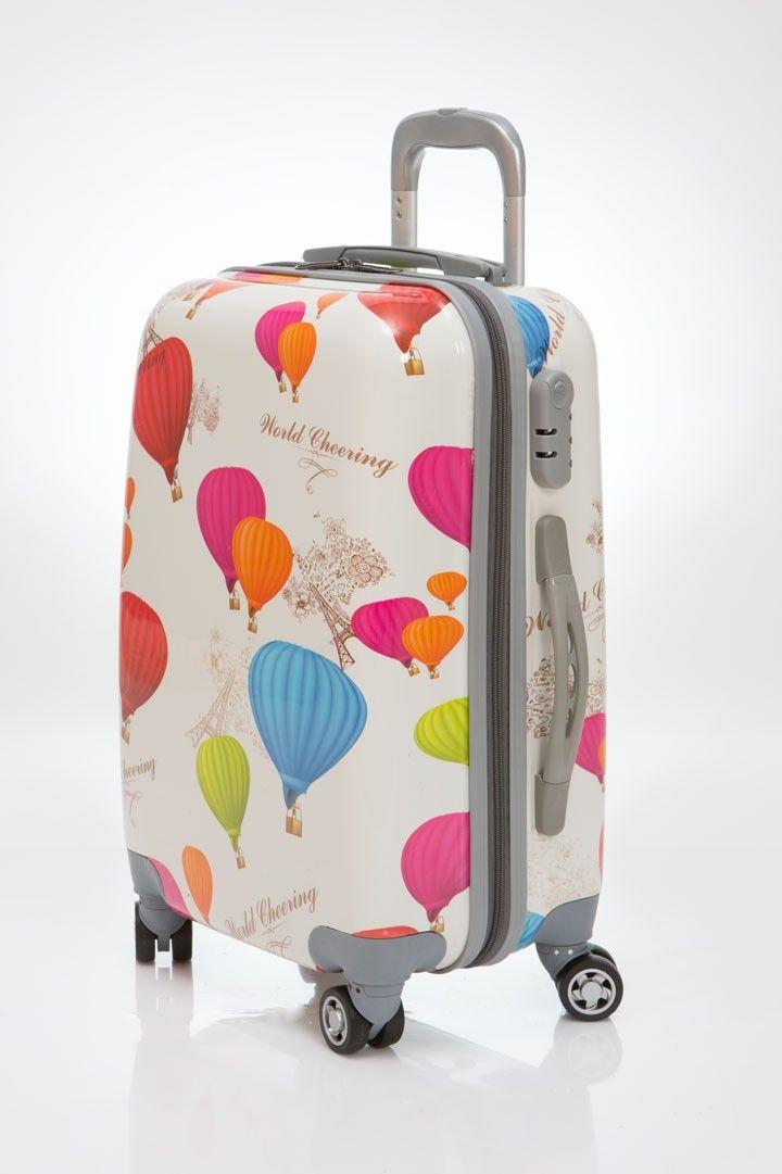 adc259c56 Maleta Globos tamaño grande, es una maleta de viaje dura de 4 ruedas de  goma silenciosa, con diseño muy moderno, envío gratis en un día