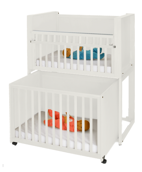 C 2 Two Infant Bunkie C2 Stackable Crib Nursery Cribs Bunk