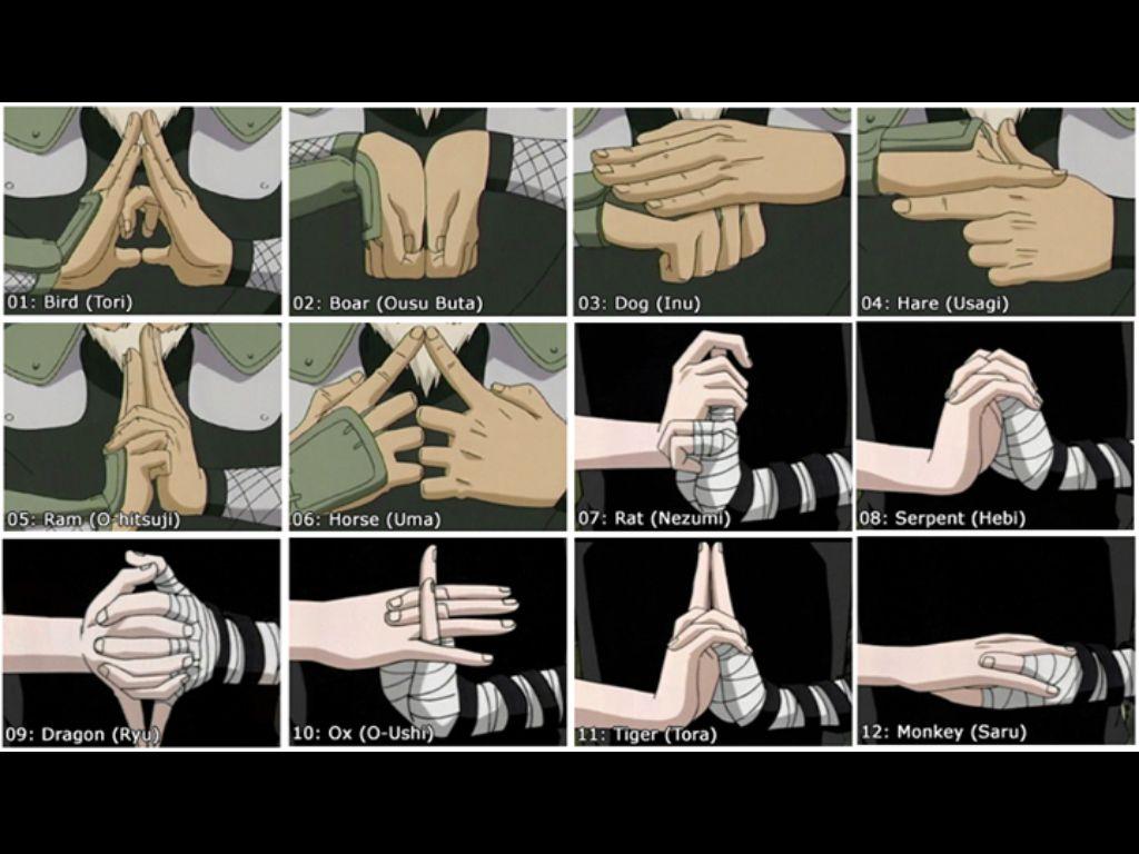 hand seals naruto pinterest naruto naruto hand signs and