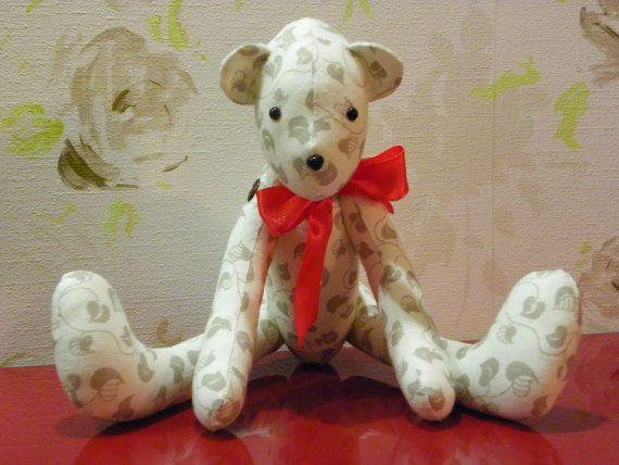 Teddybär Stofftier Bär, Beige Leinen Bär, Tilda-Bären, Kinderspielzeug, handgemachte Bären Tilde Puppen