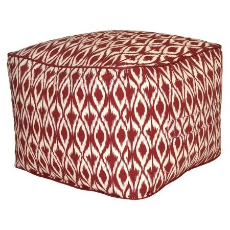 Outdoor Rectangular Pouf Footstool Red Ikat Threshold™ Target Extraordinary Target Outdoor Pouf