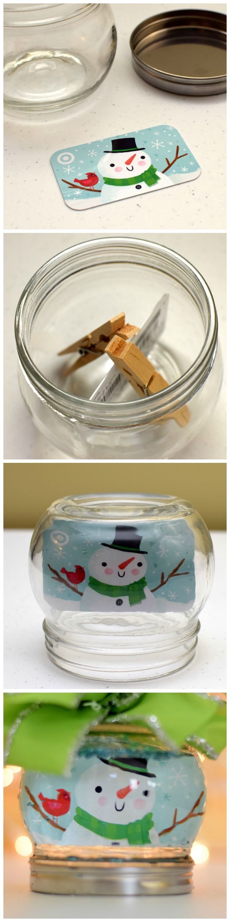 Here Is A Super Cute Way To Gift A Gift Card In A Snow Globe Your Gift Recipient Gets A Homemade Gift And A S Diy Gift Card Gift Card Presentation