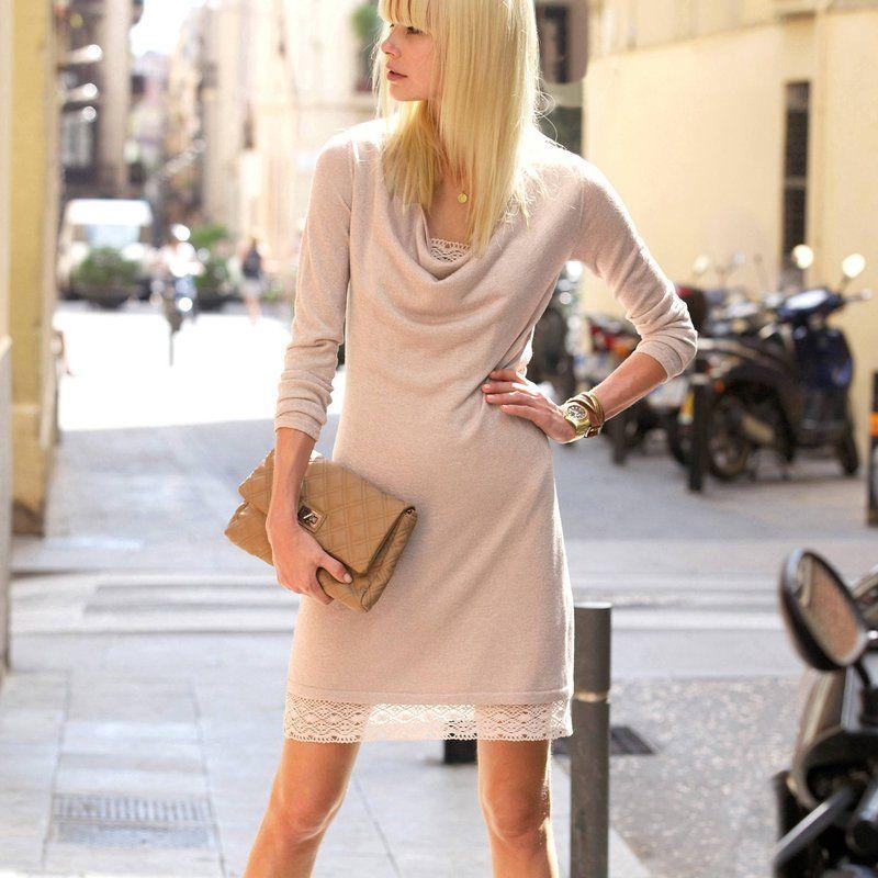 Korte 2-in-1 jurk met lange mouwen + onderjurk 3 suisses 54